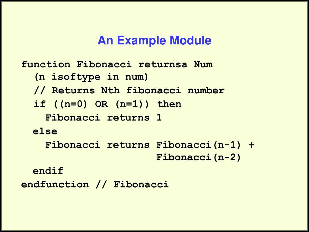 An Example Module