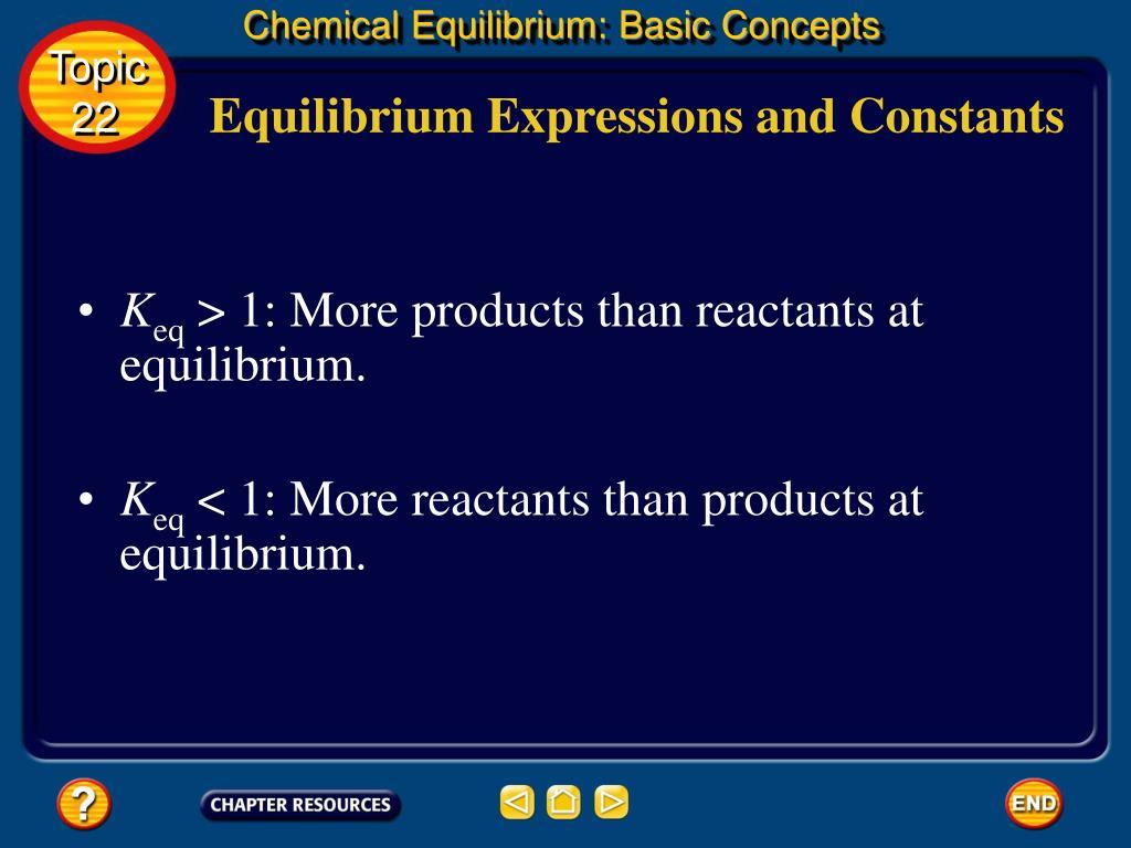 Chemical Equilibrium: Basic Concepts