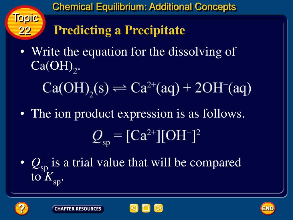 Chemical Equilibrium: Additional Concepts