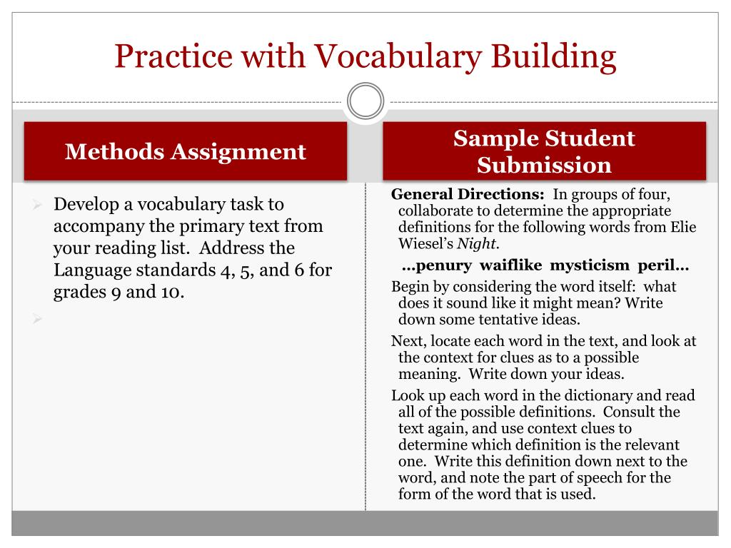 Practice with Vocabulary Building