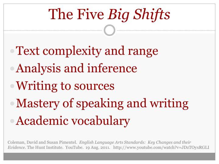 The five big shifts
