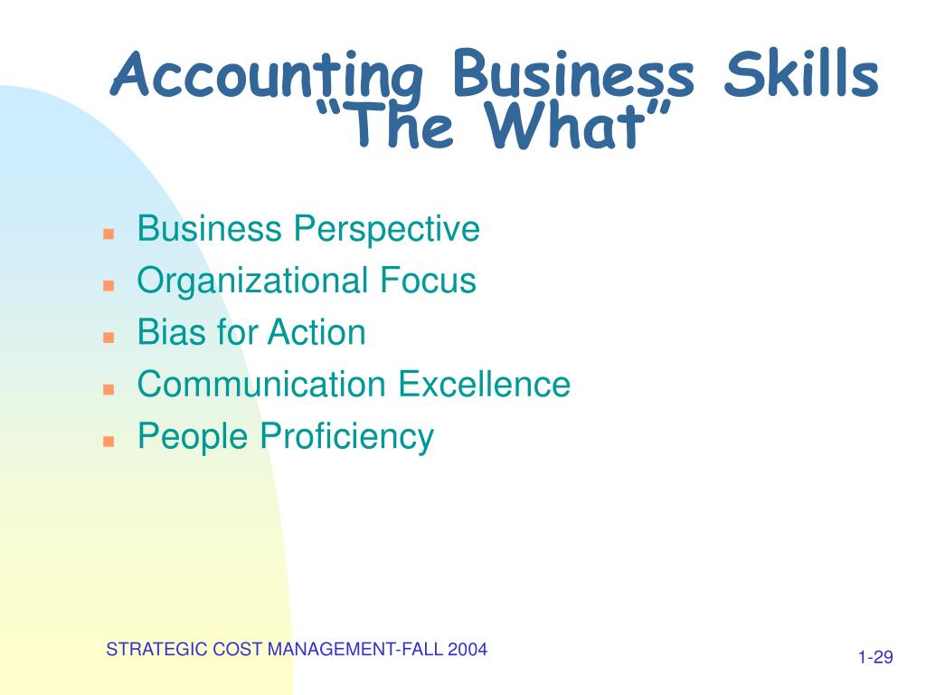 Accounting Business Skills