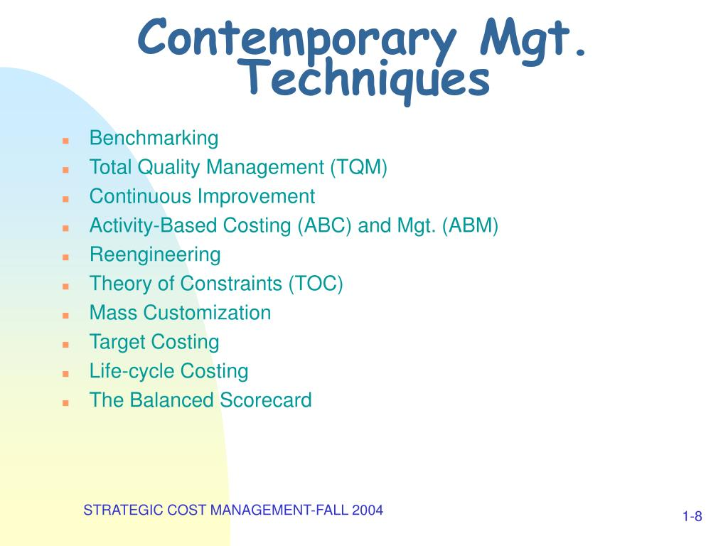 Contemporary Mgt. Techniques