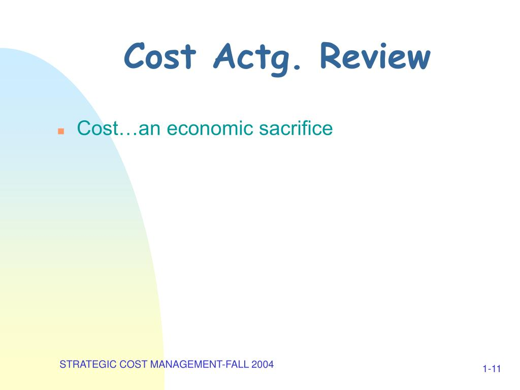 Cost Actg. Review