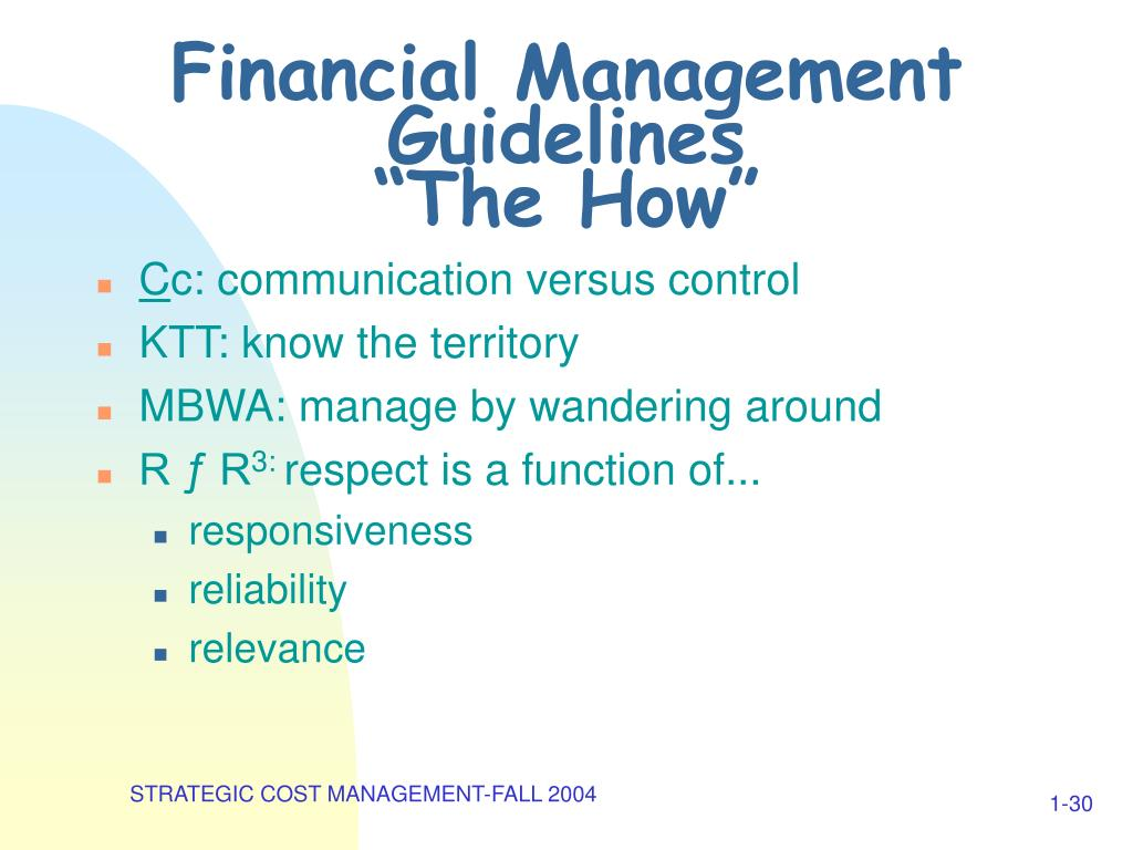 Financial Management Guidelines