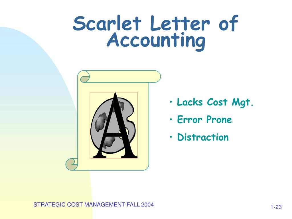Scarlet Letter of Accounting