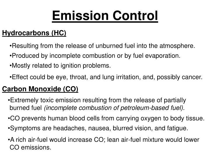 Emission control2