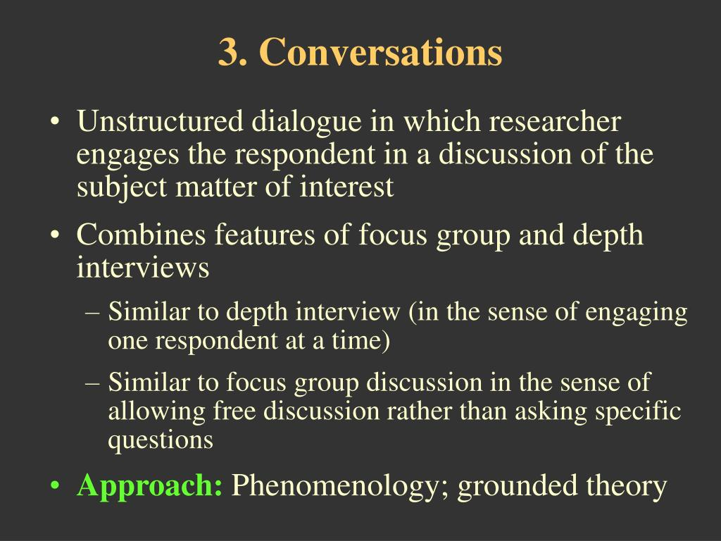 3. Conversations