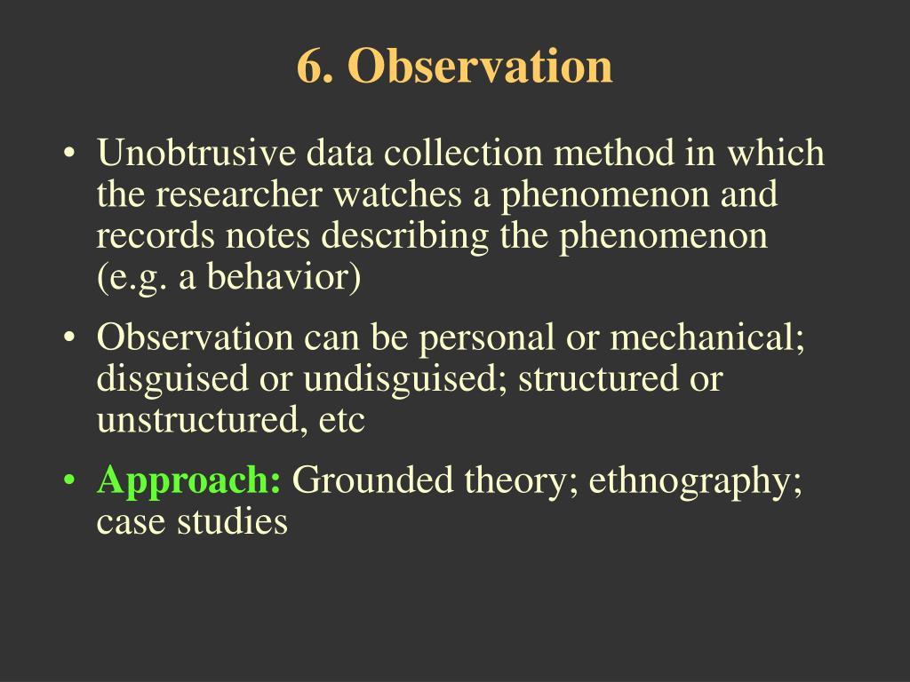 6. Observation