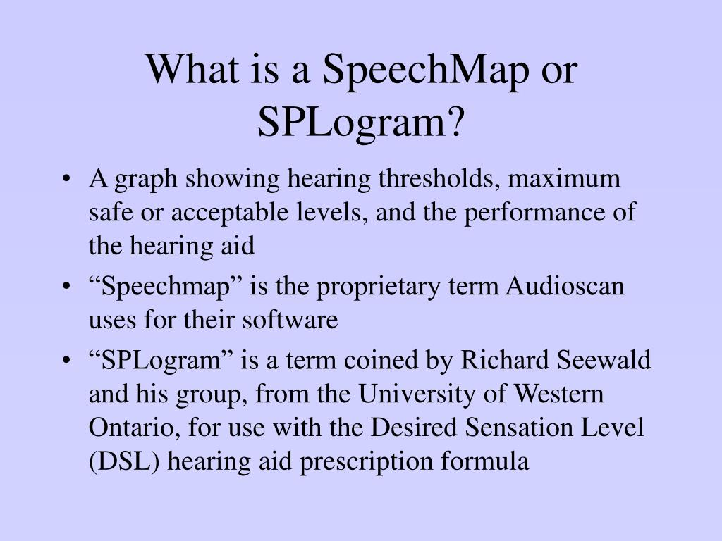 What is a SpeechMap or