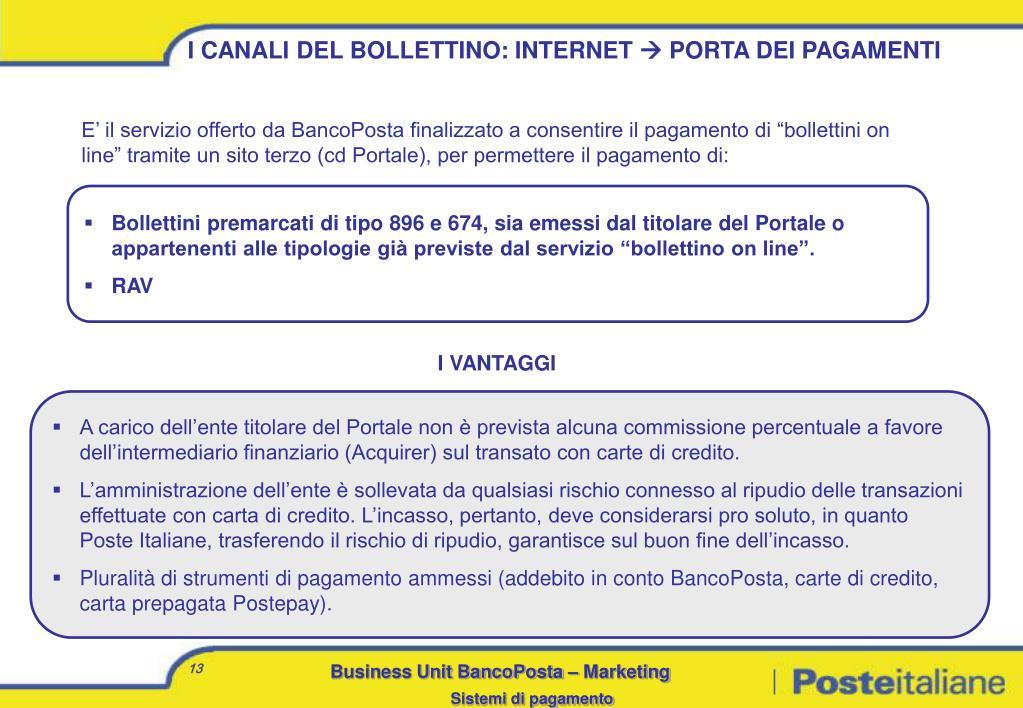I CANALI DEL BOLLETTINO: INTERNET
