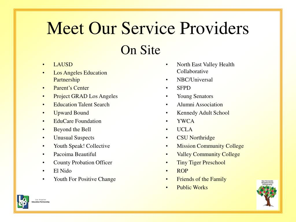Meet Our Service Providers