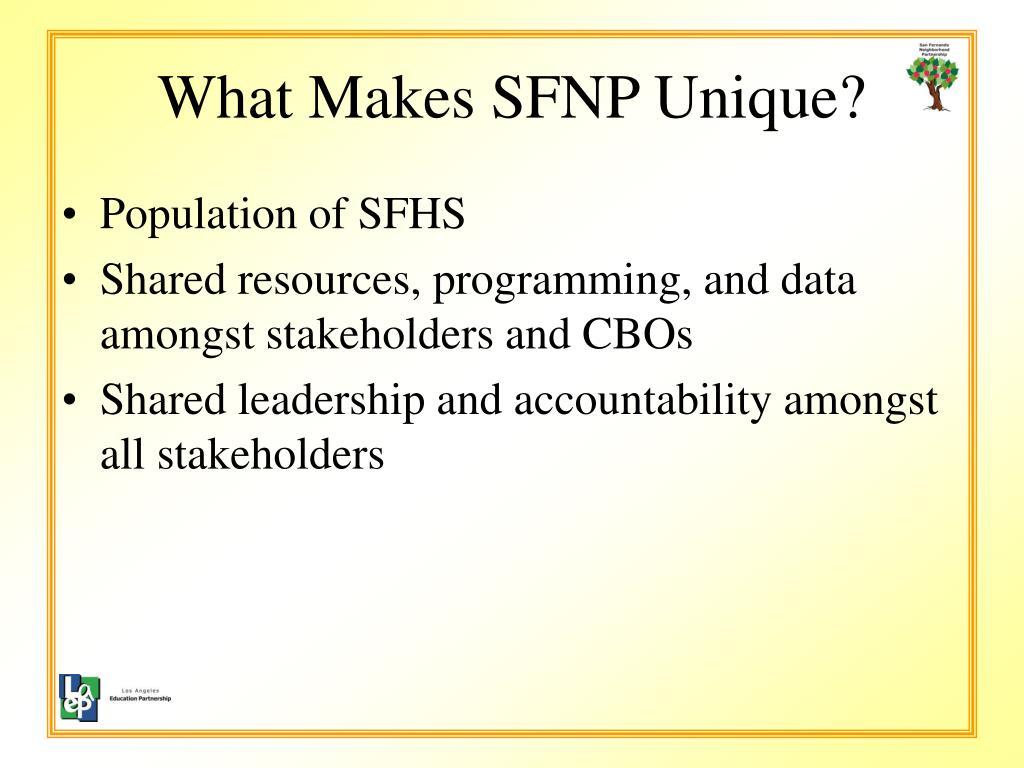 What Makes SFNP Unique?