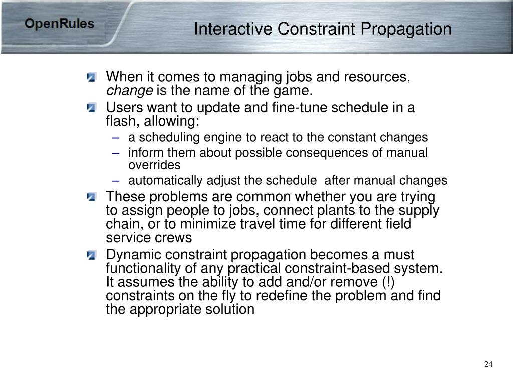 Interactive Constraint Propagation