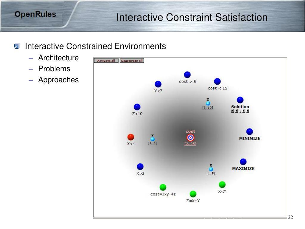 Interactive Constraint Satisfaction