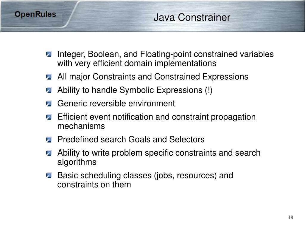Java Constrainer