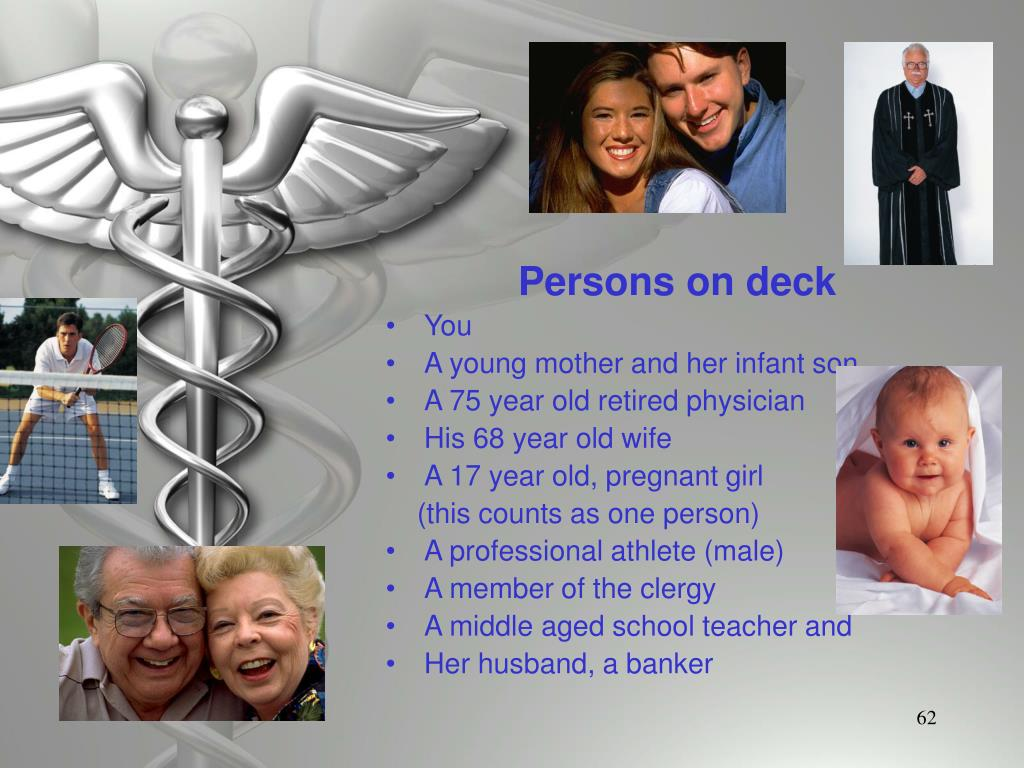 Persons on deck