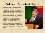 politics president karzai