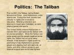 politics the taliban
