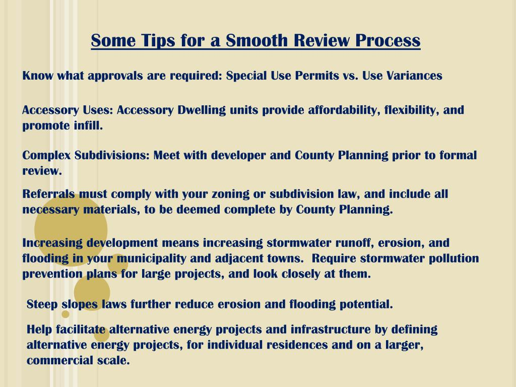 Some Tips for a Smooth Review Process