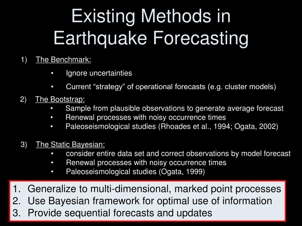 Existing Methods in Earthquake Forecasting