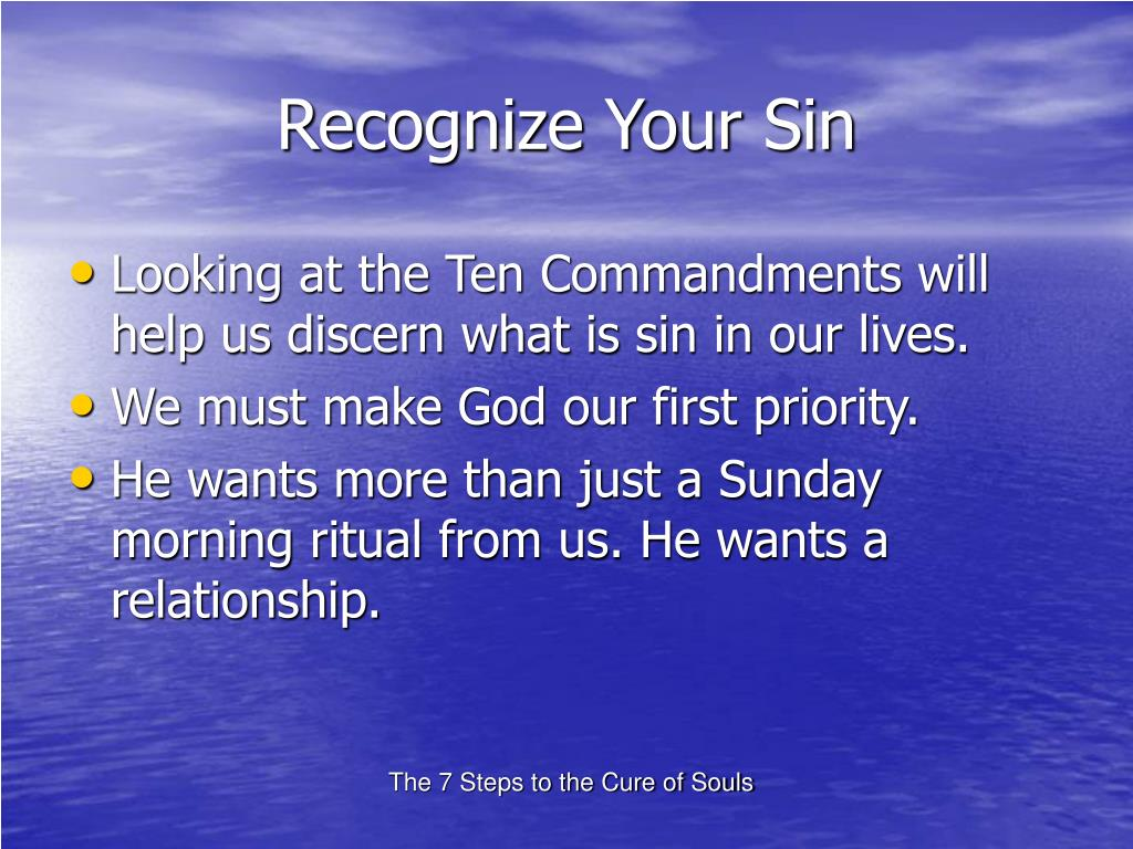 Recognize Your Sin