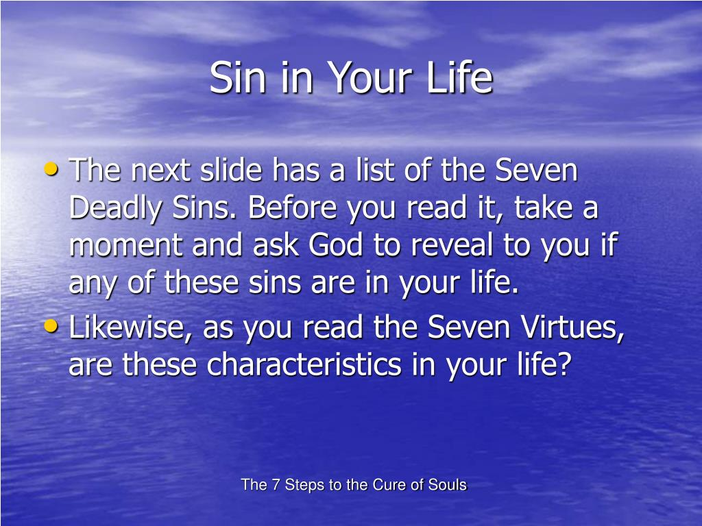 Sin in Your Life