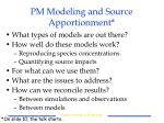 pm modeling and source apportionment10