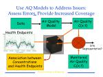 use aq models to address issues assess error s provide increased coverage