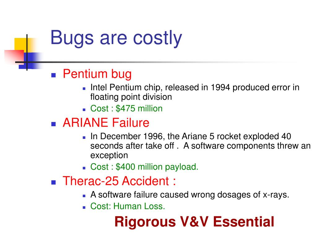 Bugs are costly