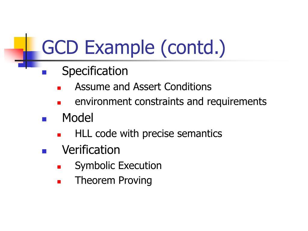 GCD Example (contd.)
