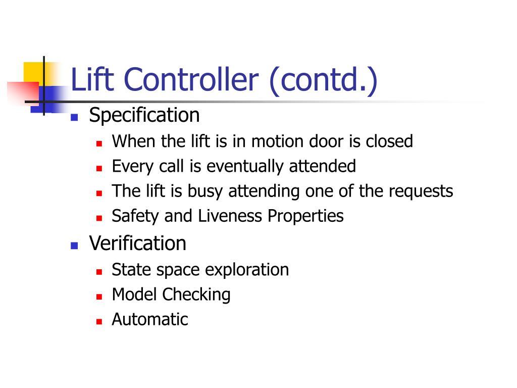 Lift Controller (contd.)