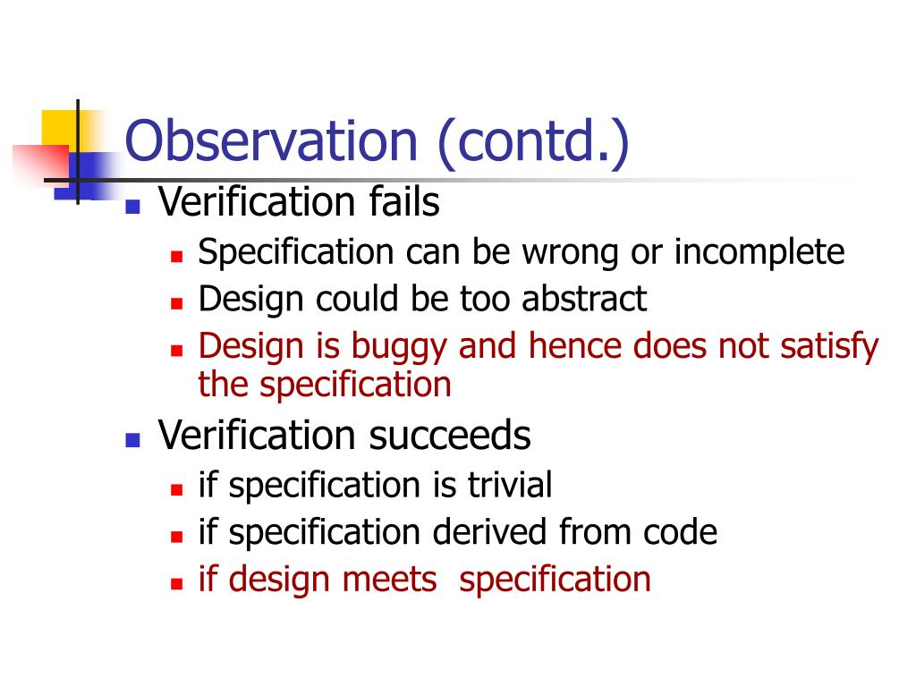 Observation (contd.)