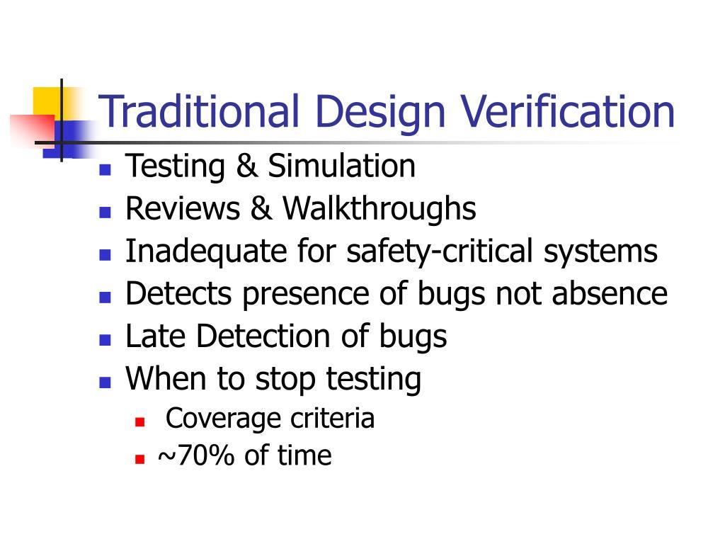 Traditional Design Verification
