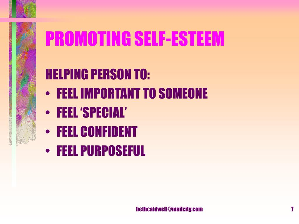 PROMOTING SELF-ESTEEM