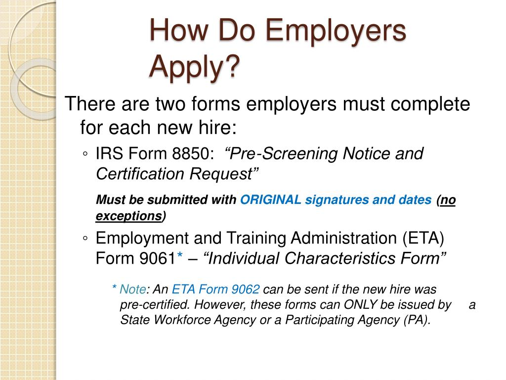 How Do Employers Apply?