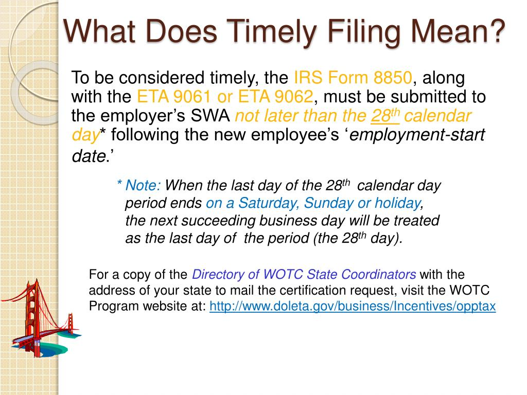 What Does Timely Filing Mean?