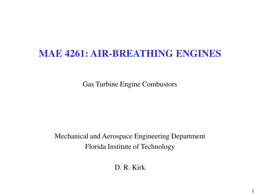 mae 4261 air breathing engines