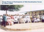group picture of participants of tika sensitization forum in tabora 2006