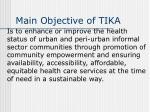 main objective of tika