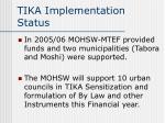 tika implementation status