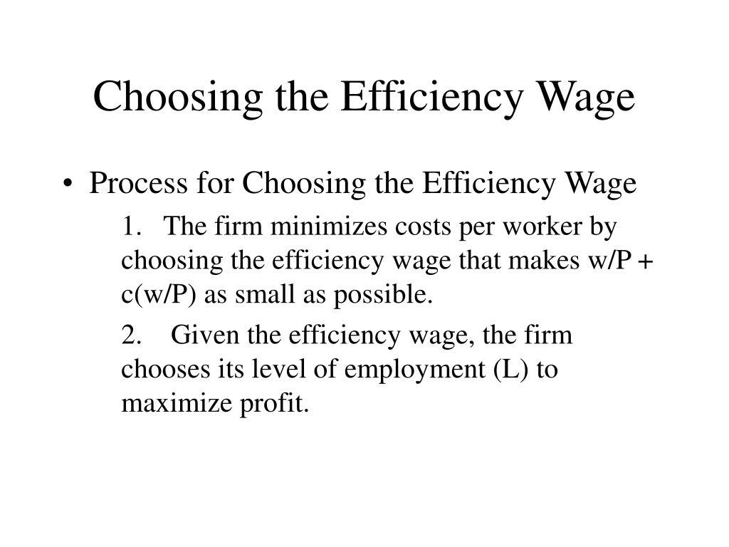 Choosing the Efficiency Wage