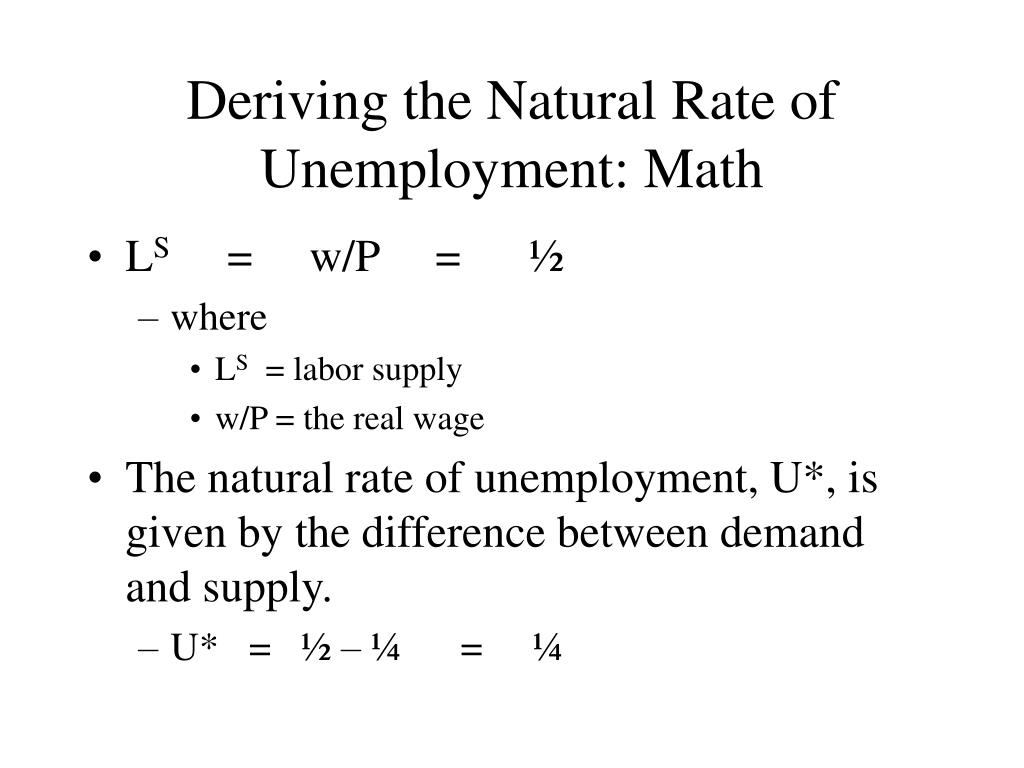 Deriving the Natural Rate of Unemployment: Math