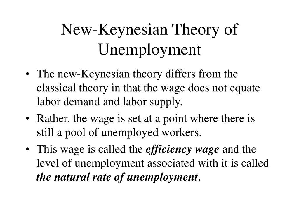 New-Keynesian Theory of Unemployment