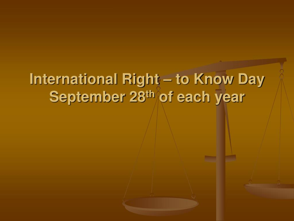 International Right – to Know Day