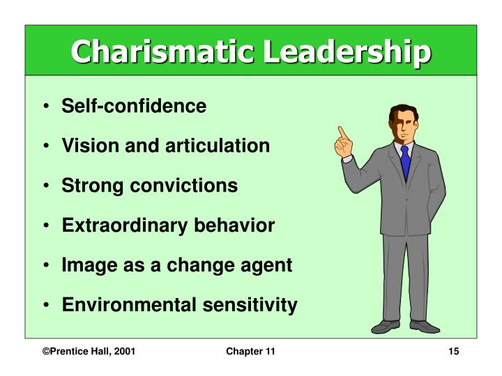 charasmatic leader Charismatic leaders have exceptional communication skills small-business owners need these skills to motivate employees through the difficult periods and.