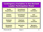 contingency variables in the revised leader participation model