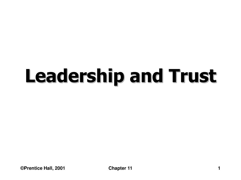 leadership and trust l.