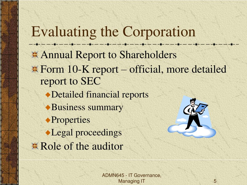 Evaluating the Corporation