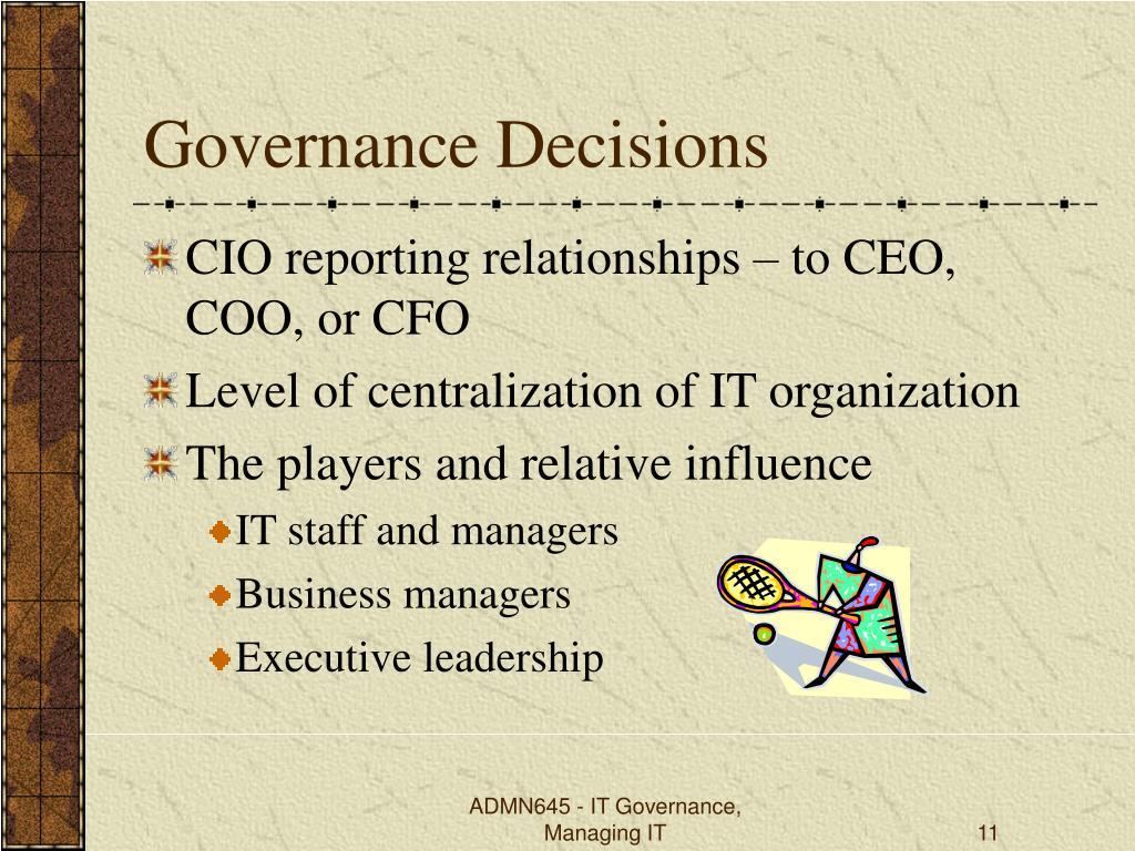 Governance Decisions